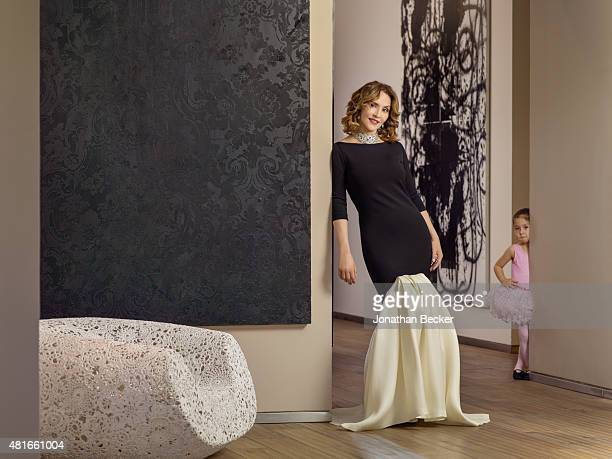 Business executive Angelica Fuentes is photographed with daughter Valentina for Vanity Fair Magazine on March 26 2015 in Mexico City Mexico PUBLISHED...