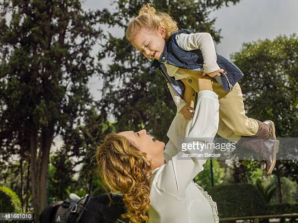 Business executive Angelica Fuentes is photographed with daughter Mariaignacia for Vanity Fair Magazine on March 26, 2015 in Mexico City, Mexico....