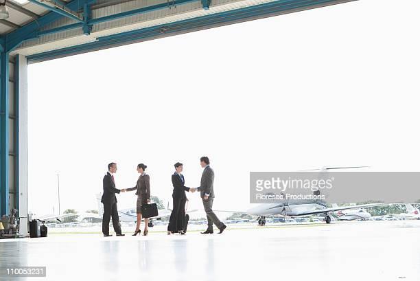Business executives at airport