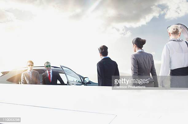 business executives on the move - premium access stock pictures, royalty-free photos & images