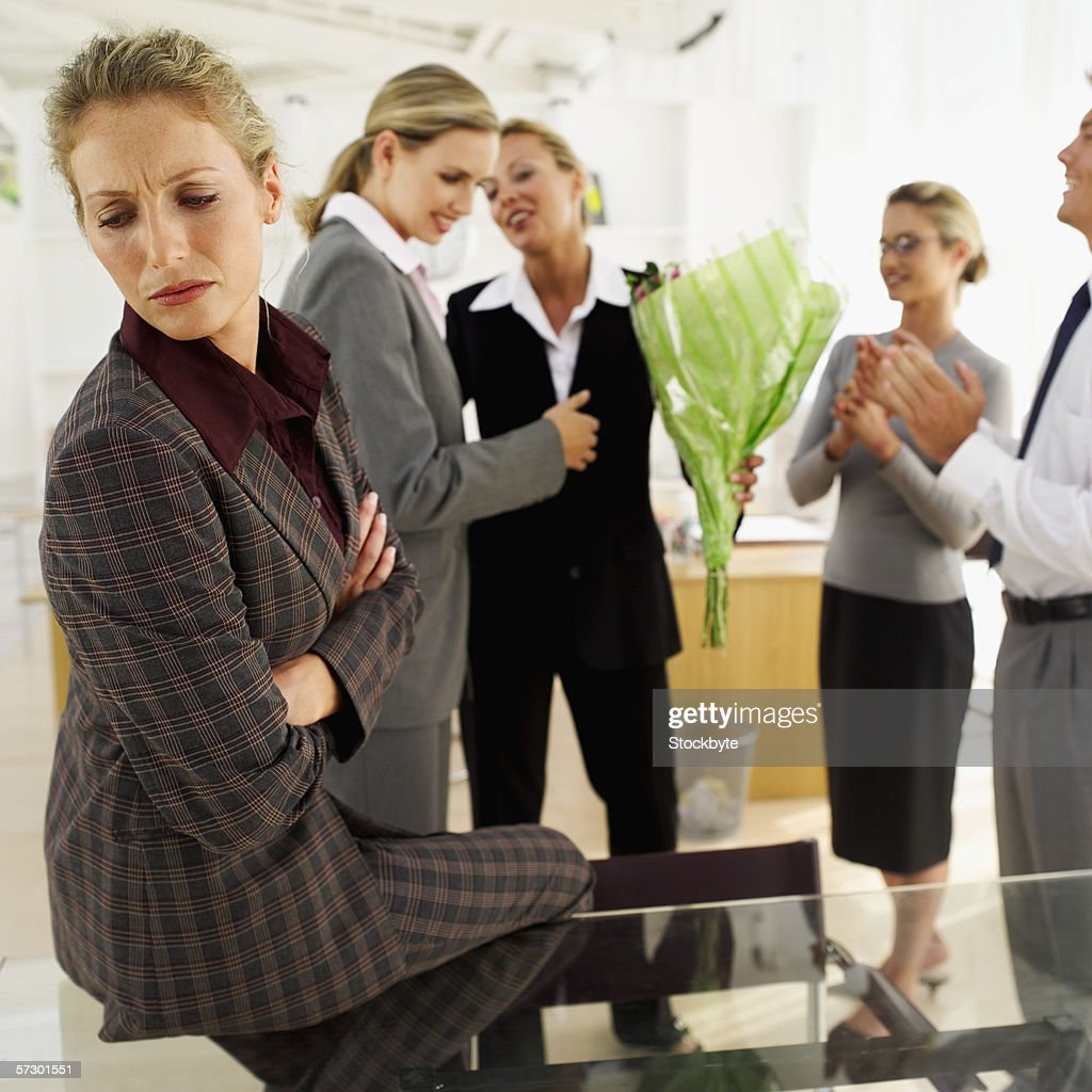 Business executives together in an office : Stock Photo