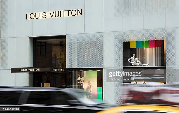 New York United States of America February 25 Business fashion brand Louis Vuitton in Manhattan on February 25 2016 in New York United States of...