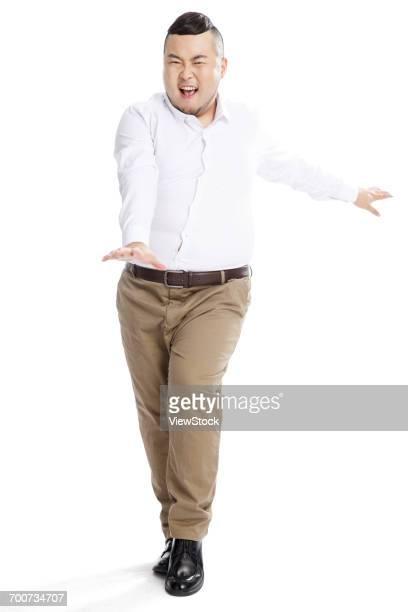 business fat man - camisa com botões imagens e fotografias de stock