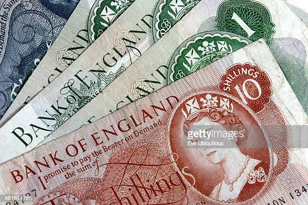 Business Finance Money A collection of Bank of England notes of various denominations from 1966 to 1970
