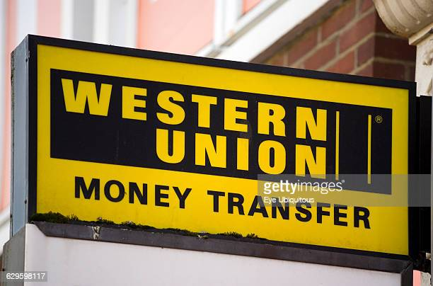 Business Finance Money Western Union Transfer Sign On A