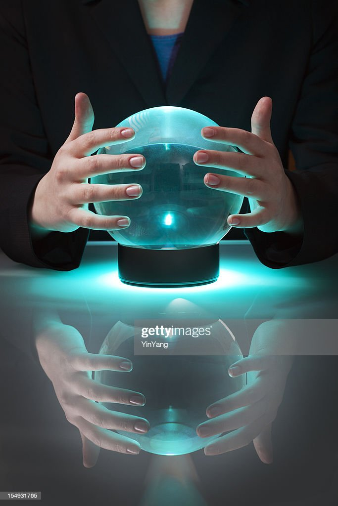 Business Fortune Teller With Crystal Ball Telling