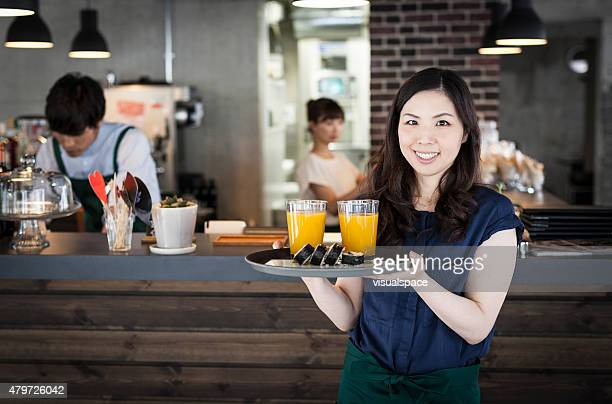 Business girl in cafe