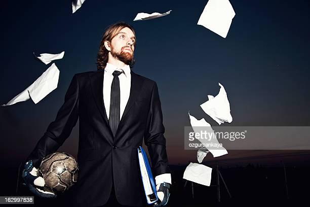 ビジネス選手 - goalkeeper ストックフォトと画像