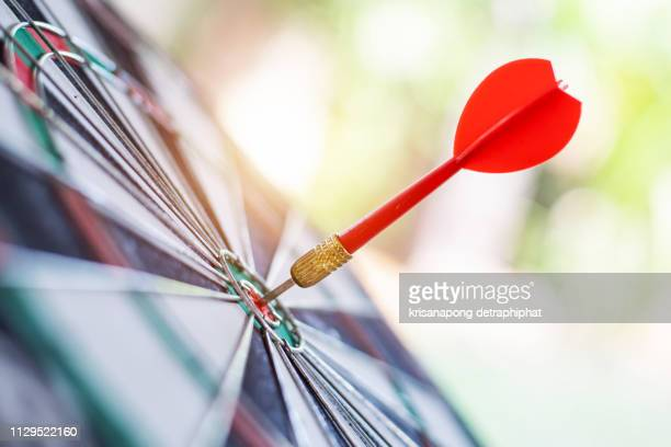 business goals concept,darts - aspiraties stockfoto's en -beelden