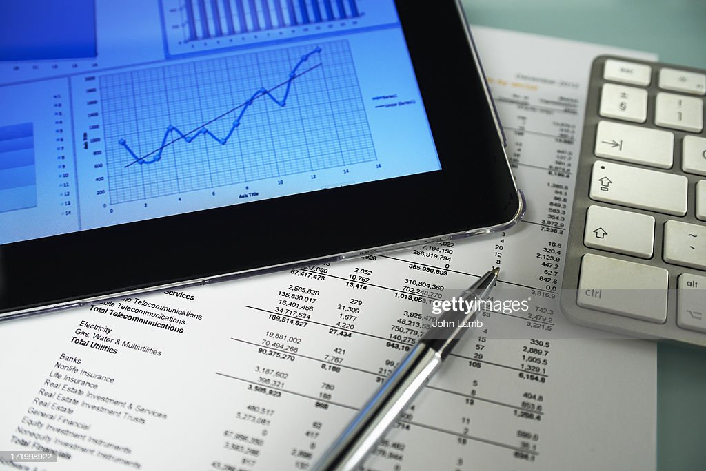 Business graph analysis : Stock Photo