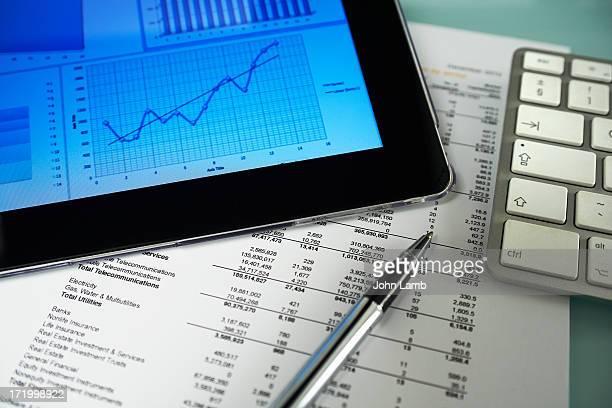business graph analysis - finanças - fotografias e filmes do acervo