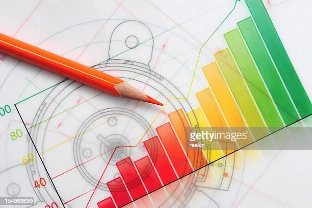 Graphique de croissance d'affaires-Concept d'affaires Finance succès tableau