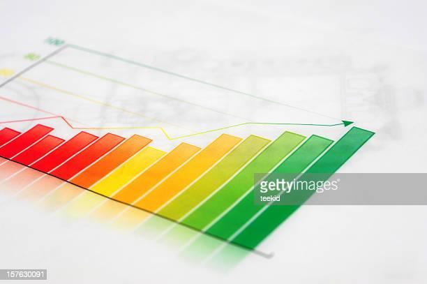 ビジネスグラフ-成長の成功のビジネスコンセプト財務-チャート