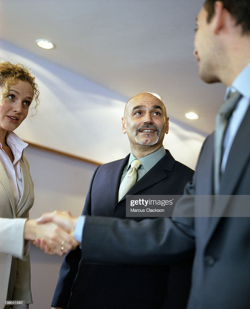 Business Greeting Stock Photo Getty Images