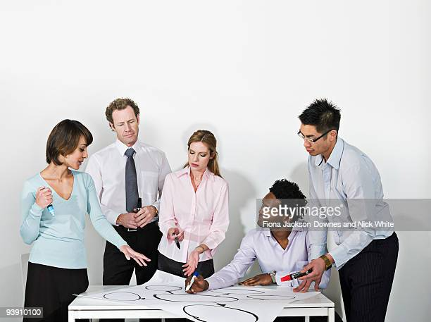 business group brainstorm - chairperson stock pictures, royalty-free photos & images