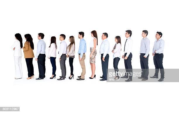 Business Gruppe in einer Reihe