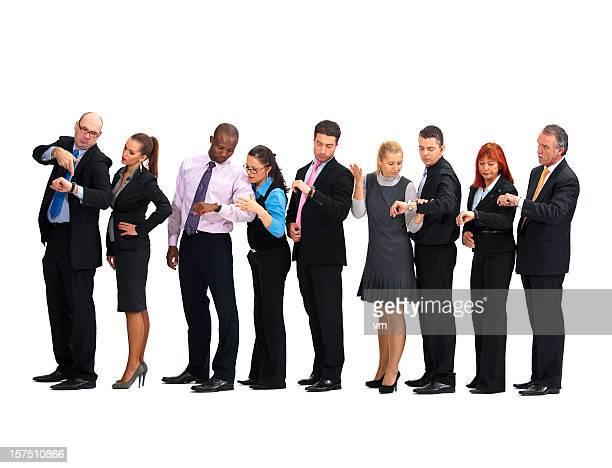 Groupe d'affaires en attente en ligne