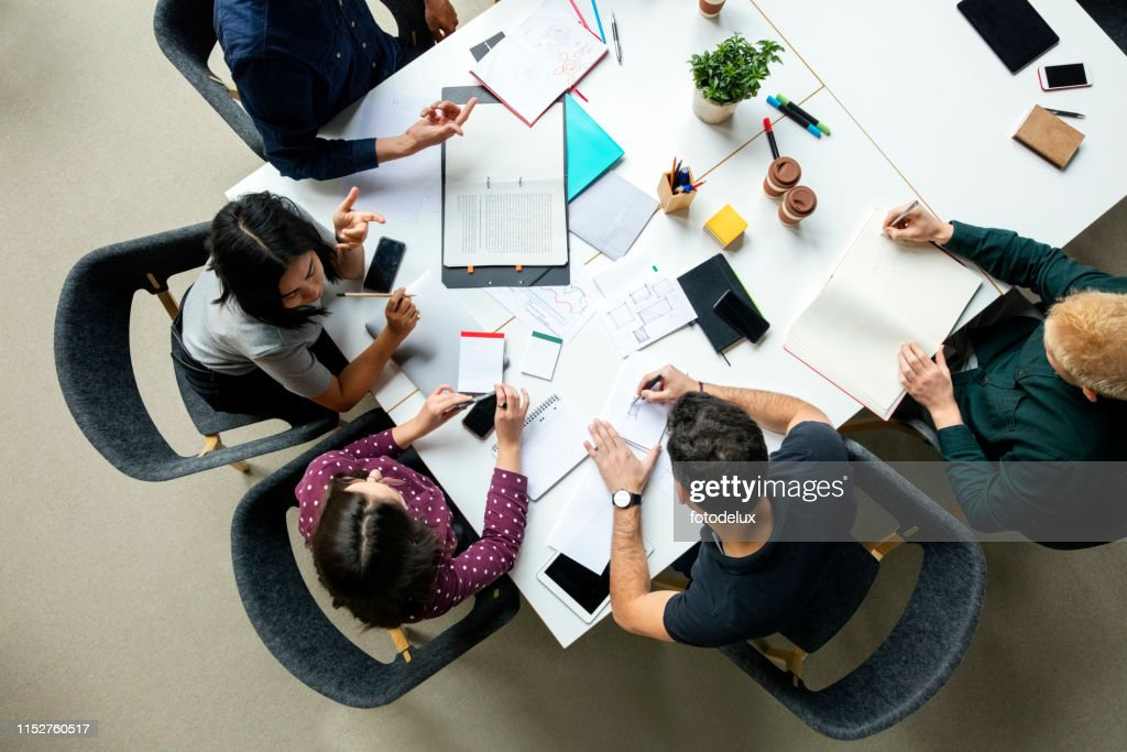 Business group working together on new project : Stock Photo