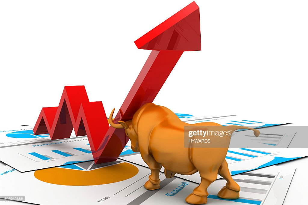 Business Growth Chart And Bull Stock Photo Getty Images