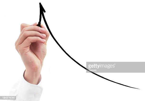 business hand drawing graph