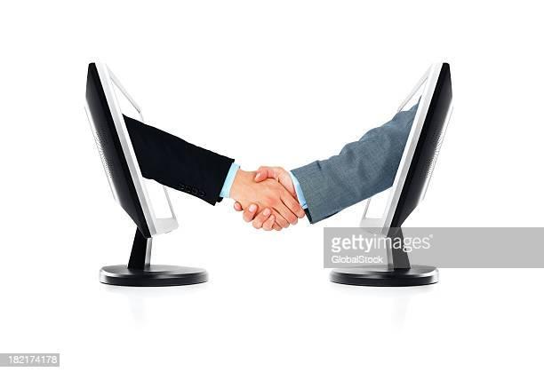 Business Handshake- Isoliert