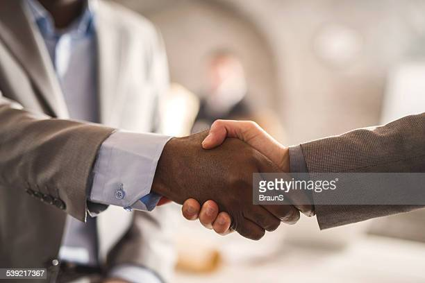 Business handshake.