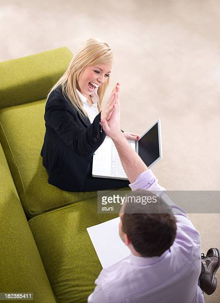 business high five - incentive stock photos and pictures