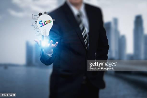 Business idea bulb gear web engineering