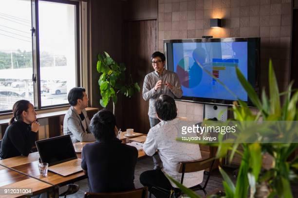 ビジネス イメージ、会議、事務所 - プレゼン ストックフォトと画像