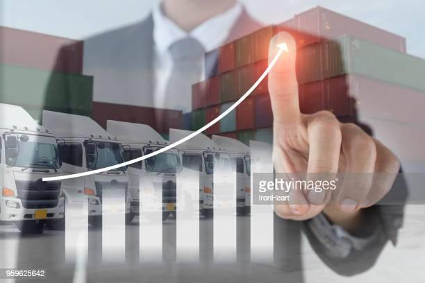 Business import & export logistics concept.