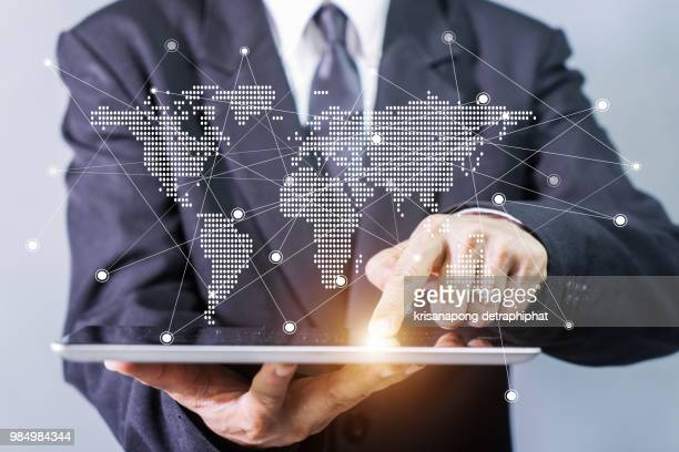 Business, Internet and technology concept