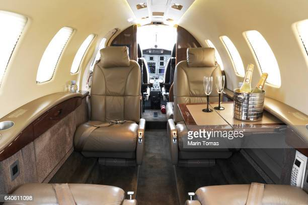 business jet interior - vehicle interior stock pictures, royalty-free photos & images