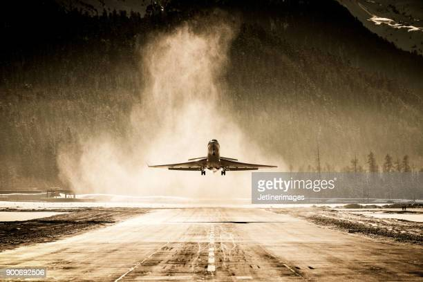 business jet - fuselage stock photos and pictures