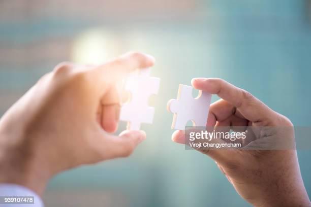 business jigsaw - puzzle stock-fotos und bilder