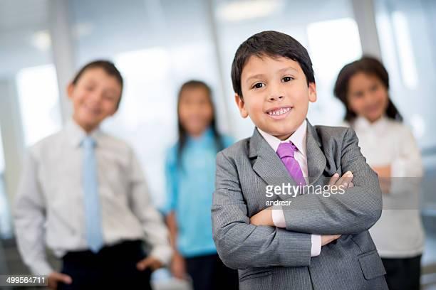 Niños de negocios