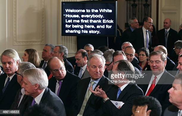 Business leaders including BlackRock Chairman and CEO Larry Fink Boeing Company Chairman President and CEO Jim McNerney Morgan Stanley Chairman and...