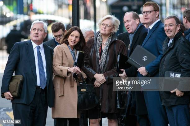 Business leaders including President of the Confederation of British Industry Paul Drechsler director general of the CBI Carolyn Fairbairn director...