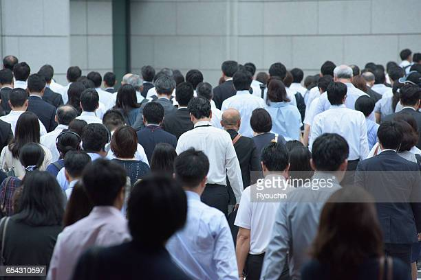 business life, businessman, people who work - japan commuters ストックフォトと画像