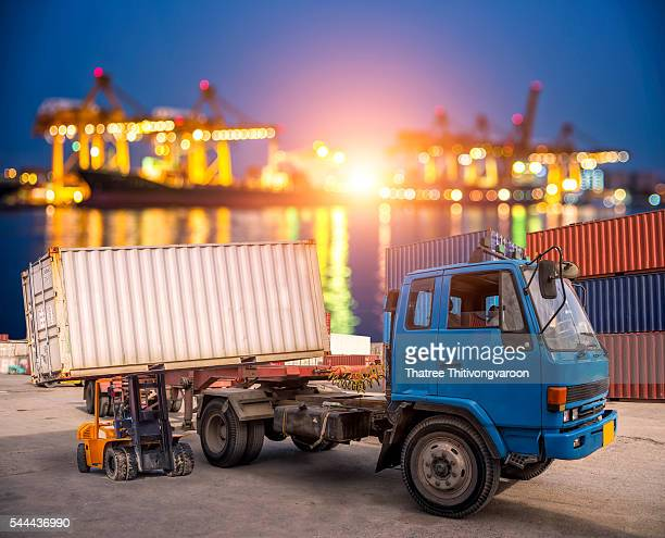 Business logistic concept, Industrial Container Cargo freight ship