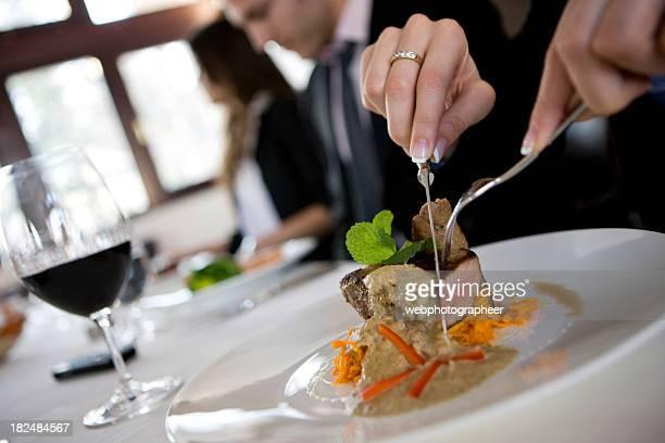ビジネスランチ - コース料理 ストックフォトと画像