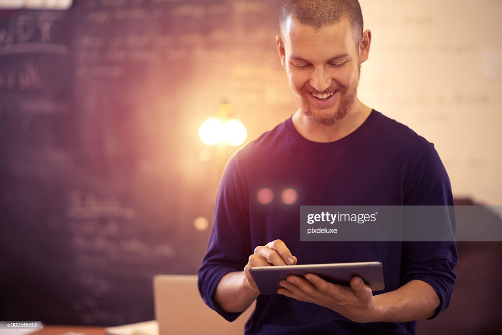 Business made easy through wireless technology : Stock Photo
