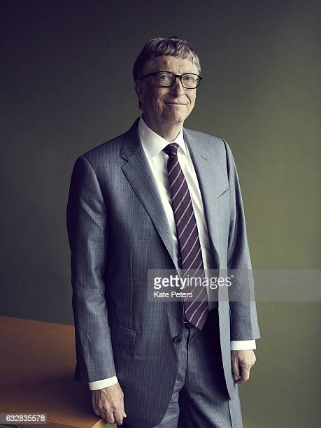 Business magnate investor author and philanthropist Bill Gates is photographed for the Telegraph on June 29 2016 in London England