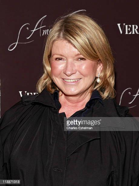 Business magnate Martha Stewart attends the L'Amour Fou Screening at The Museum of Modern Art on May 1 2011 in New York City