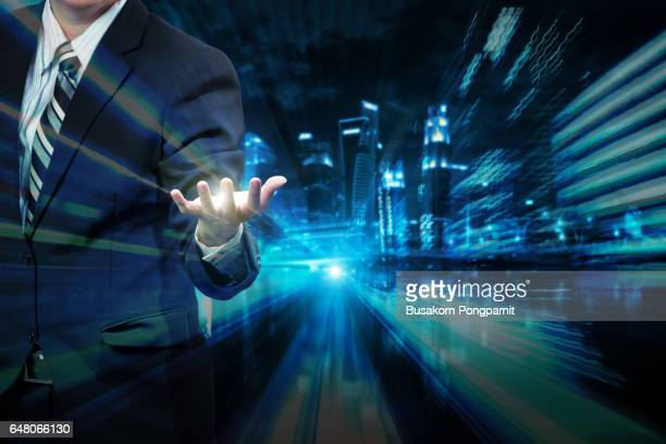 Business man abstract background concept