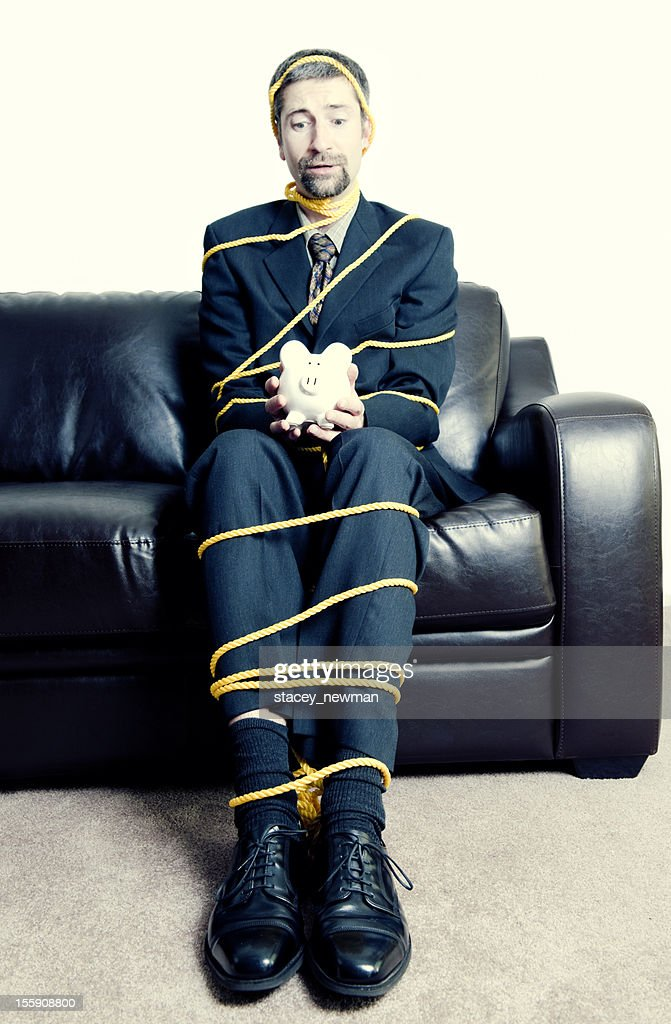 Business Man All Tied Up High-Res Stock Photo - Getty Images