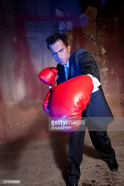business man boxing - funny boxing stock photos and pictures