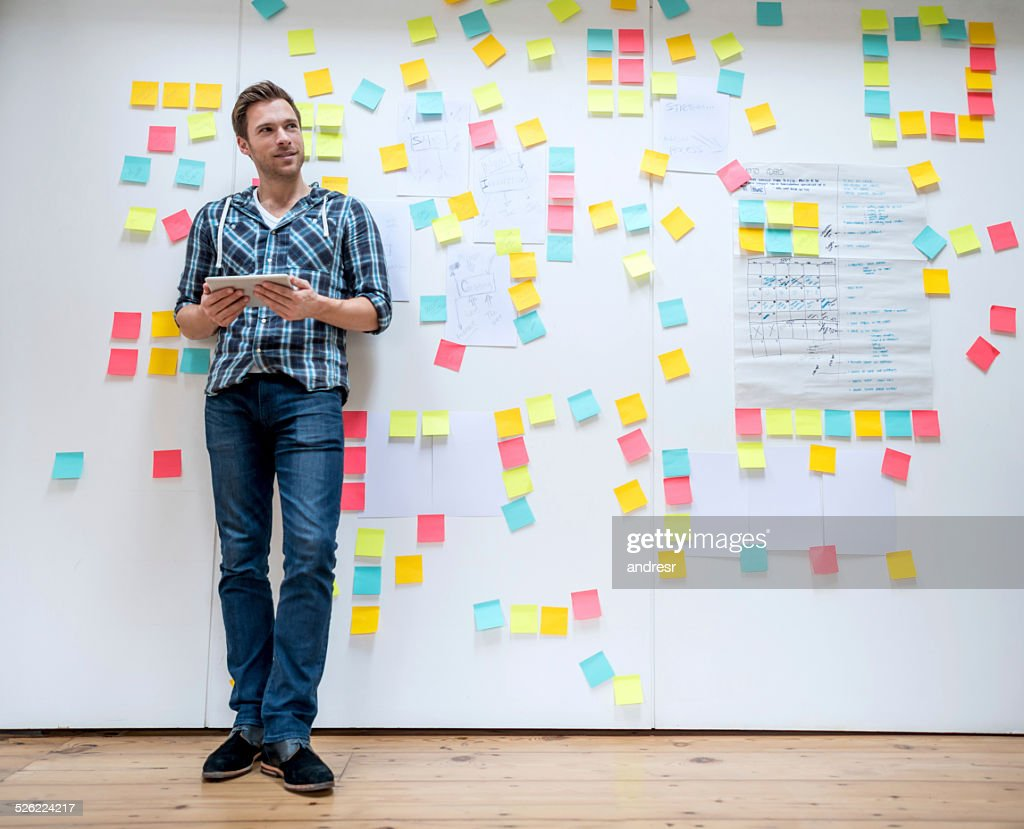 Business man brainstorming : Stock Photo