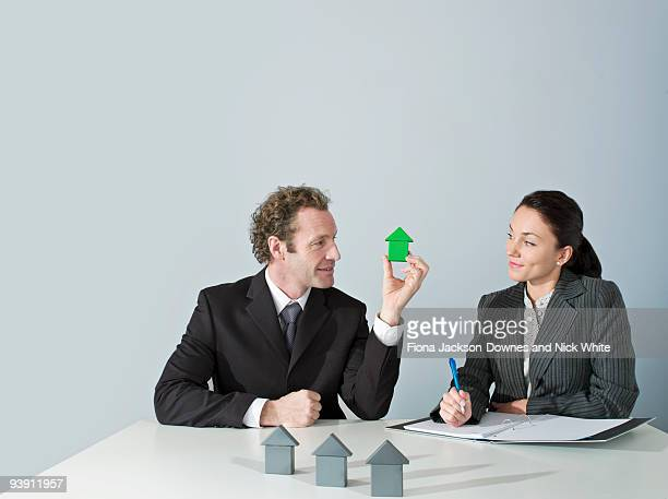 Business man discusses housing