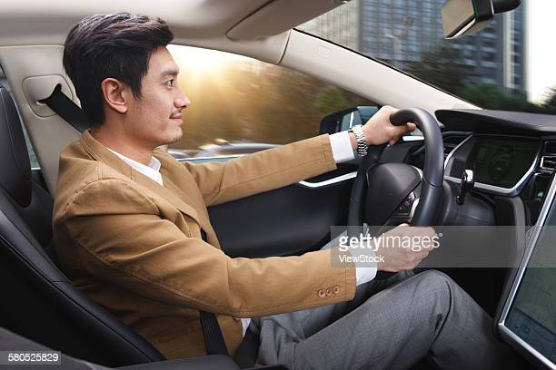 Business man driving