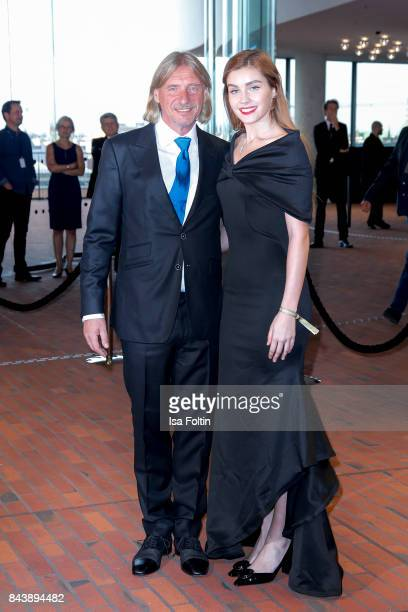 business man Frank Otto and his girlfriend model Nathalie Volk attend the 'Deutscher Radiopreis' at Elbphilharmonie on September 7 2017 in Hamburg...